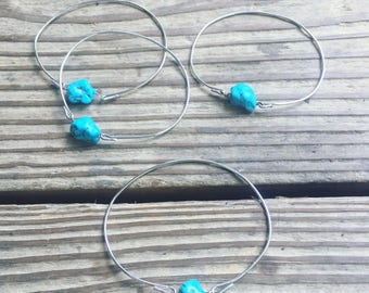 Silver Turquoise Bangle