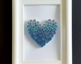 Blue Ombre heart