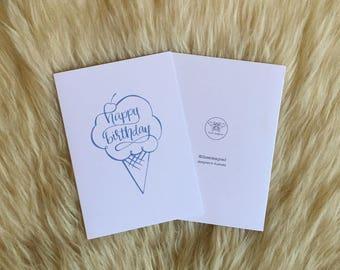 Birthday Ice-Cream Cone Card