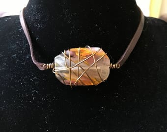 Wire-wrapped Stone Choker