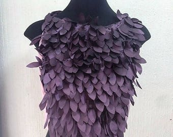 Crop top morado y lila/Purple and lavender cropped tank blouse