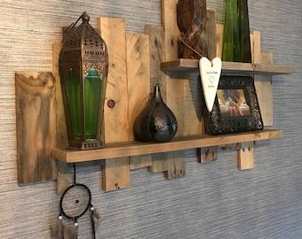 Bespoke pallet wood shelves