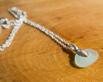 Aqua Seaglass pendant