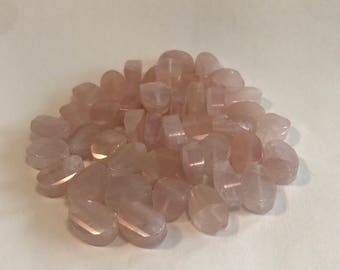 Faceted Rose Quartz Oval Beads