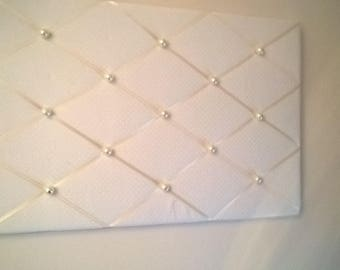 Stunning Cream with Pearls Memo/notice Board 54cm x41cm suitable for a wedding