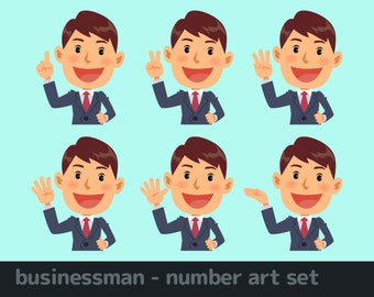 businessman - number art set