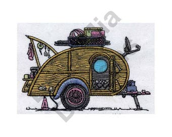 Camping Trailer - Machine Embroidery Design