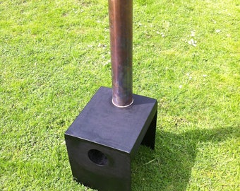 Unique, sturdy woodburner | patio heater | chiminea | recycled steel