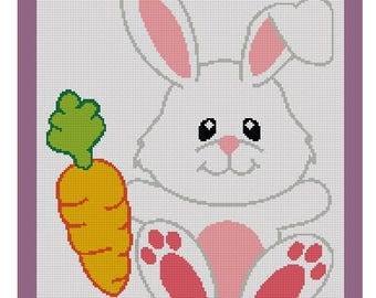 Crochet Graph: Bunny with carrot