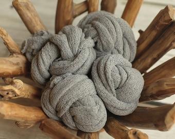 Pewter Stretch Knit Wrap, Gray Stretch Knit Wrap, Newborn Stretch Knit Wrap, Newborn Fabric Layers, RTS