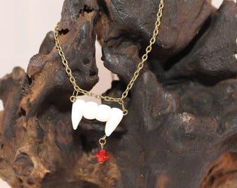 Vampire bite necklace