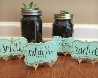 Wooden Place Cards (with Stands)