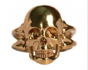 Golden Skull Ring - [SIZE 7]