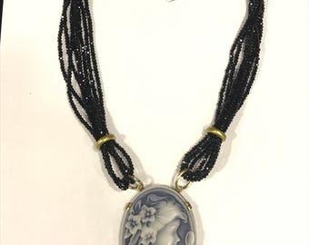 Swarovski necklace and cameo 80005874