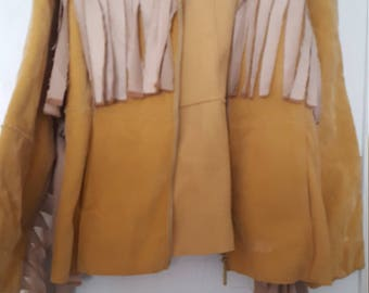Vintage handmade faux suade (100 leather/poly) jacket