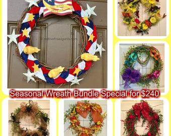 Handmade Wreaths-6 BUNDLE SPECIAL!