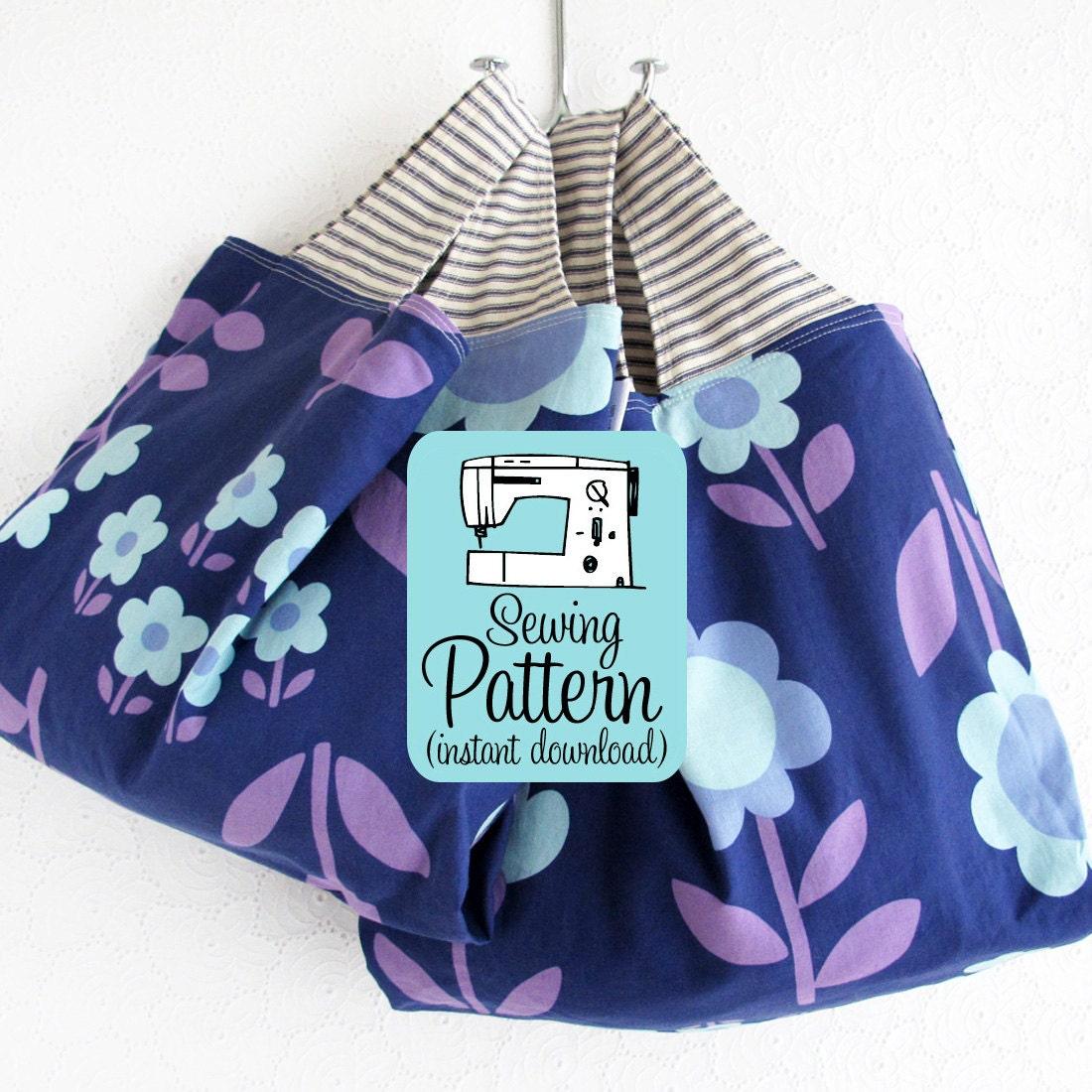 Grocery Bag Pdf Sewing Pattern Bag Pattern By Michellepatterns