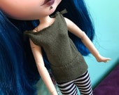 Olive Army Green Tank Top T-Shirt for Blythe