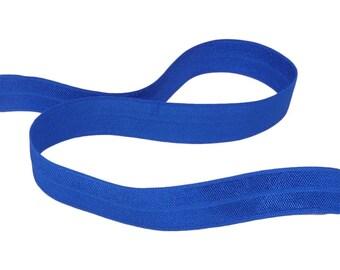 5 yds Cobalt Blue Fold Over Elastic (EFO329-5)