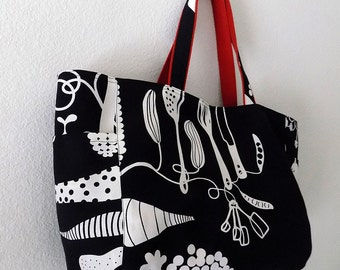 SALE - Dancing Veggies - Market Tote Bag