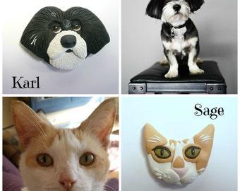 Personalized Pet Magnet, Custom Pet Portrait from Photo, Pet Fridge Magnet, Cat Magnet, Dog Magnet, Pet Memorial Pet Keepsake Pet Home Decor