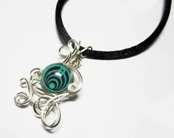 Wire Wrap Bassnectar Pendant with Necklace