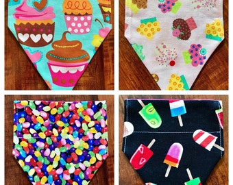 Custom Pet / Dog Bandana Cupcake Jellybean Popsicle