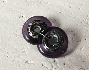 Black & Cream Center - Purple