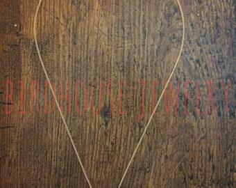 Birdhouse Jewelry - Gold Crossbones Necklace