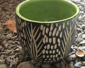 Modern Porcelain Cup Yunomi Vase Planter