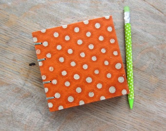 Orange Notebook, unlined pages, Ready To Ship