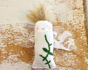 Mini fairy-angel doll ornament