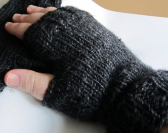 Fingerless Gloves, fingerless Mittens, Arm warmers// Hand knitted // Sizes from toddler to Adult  // Comes in Other Colors