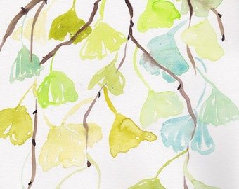 Original Gingko Watercolor
