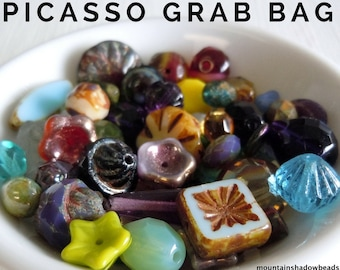 Picasso Bead Mix Grab Bag Assortment from Mountain Shadow Designs - You Choose Quantity