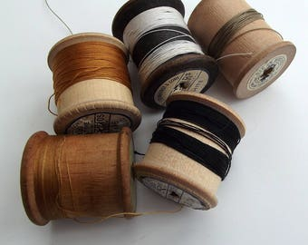 Vintage Browns Sewing Threads - instant collection - Craft Supplies