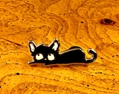 Limited Addition Enamel Cat Pin #3 by Jason Edward Davis