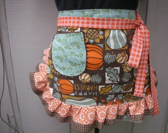 Aprons - Womens Aprons - Turkey Day Aprons - Thanksgiving Aprons - Etsy Aprons - Womens Thanksgiving  Apron - Pumpkin Aprons  Fall Aprons