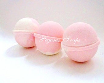 Pink Lemonade Bomb Fizzy Relaxing Bath, Fizzy Bath, Handmade Bath Bomb, Mother's Day, Vegan Friendly