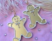 Christmas Gingerbread Man Cookie Laser Cut Acrylic Earrings