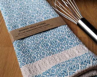 Teal Towel Handwoven Susatinable Cotton Organic Cottolin