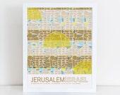Jerusalem, Israel travel poster