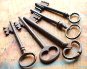 Fancy Rustic French Antique Skeleton Key Set - Church Key - Instant Collection // New Year Sale - 15% OFF - Coupon Code SAVE15
