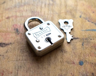 Vintage Master Padlock in Original Box With Key - Padlock #44  // New Year Sale - 15% OFF - Coupon Code SAVE15
