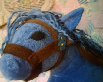 "Horse or Donkey For up to a 16"" Waldorf Doll, Custom Listing, Organic Velour, You pick Colors"
