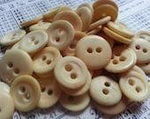 60 Shabby Antique Bone Buttons. Shabby Beauties. Reenactors.