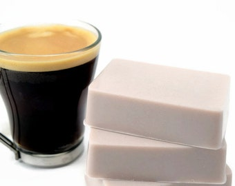 Cafe Latte Soap, Coffee Scented Homemade Soap, Gift For Coffee Lover