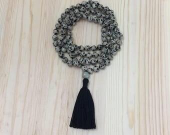 Mala Beads, Mala Necklace, 8mm Mala Necklace, Knotted Mala, Meditation, Yoga