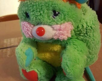 Vintage mini stuffed animal Popples Putter the Green Popple