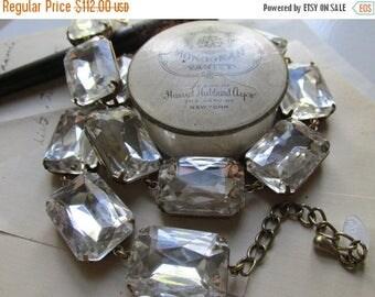 SALE Anna Wintour Necklace, statement necklace, collet necklace, diamond necklace, clear crystal necklace, statement bridal necklace.